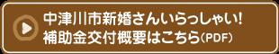 中津川市新婚さんいらっしゃい!補助金概要はこちら(PDF)