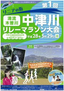 中津川リレーマラソンチラシ表面